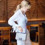 กระเป๋าสะพายแฟชั่น กระเป๋าสะพายข้างผู้หญิง CN RAINBOW 8 Inch [สีเทา]