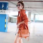กระเป๋าสะพายแฟชั่น กระเป๋าสะพายข้างผู้หญิง Belt Bag [สีส้ม]