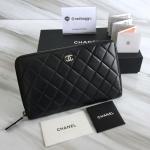 Chanel organize wallet black
