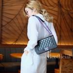 กระเป๋าสะพายแฟชั่น กระเป๋าสะพายข้างผู้หญิง CN RAINBOW 10 Inch [สีดำ]