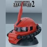 GACHAPON EXCEED MODEL ZAKU HEAD 2 กาชาปองซาคุ 2 สีแดง