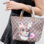 กระเป๋าสะพายแฟชั่น กระเป๋าสะพายข้างผู้หญิง กุชชี่ TOTE [สีเหลือง]