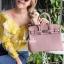 กระเป๋าสะพายแฟชั่น กระเป๋าสะพายข้างผู้หญิง Birkin PU 30 cm [สีชมพู] thumbnail 2