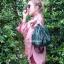 กระเป๋าสะพายแฟชั่น กระเป๋าสะพายข้างผู้หญิง อัดพีทห่วง [สีเขียว] thumbnail 3