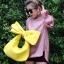 กระเป๋าครัช กระเป๋าถือ Big Bow [สีเหลือง]