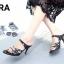 พร้อมส่ง รองเท้าส้นเข็มเปิดส้นสีดำ แต่งหน้าเพชร สไตล์ ZARA แฟชั่นเกาหลี [สีดำ ] thumbnail 3
