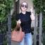กระเป๋าสะพายแฟชั่น กระเป๋าสะพายข้างผู้หญิง Picotin size L [สีดำ] thumbnail 4