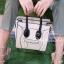 กระเป๋าสะพายแฟชั่น กระเป๋าสะพายข้างผู้หญิง Top bag [สีครีม] thumbnail 3