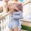 กระเป๋าสะพายแฟชั่น กระเป๋าสะพายข้างผู้หญิง Mini Kelly Pu [สีเทา] thumbnail 2