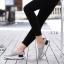 พร้อมส่ง รองเท้าผ้าใบเสริมส้นสีเทา ผ้าแคนวาส พื้นสุขภาพ แฟชั่นเกาหลี [สีเทา ] thumbnail 4