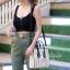 กระเป๋าสะพายแฟชั่น กระเป๋าสะพายข้างผู้หญิง Top bag [สีครีม] thumbnail 2