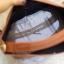 กระเป๋าสะพายแฟชั่น กระเป๋าสะพายข้างผู้หญิง กระเป๋าทรงตัวยู (อะไหล่เงิน) [สีดำ] thumbnail 3