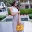 กระเป๋าสะพายแฟชั่น กระเป๋าสะพายข้างผู้หญิง Lindy 26 cm [สีเหลือง] thumbnail 5