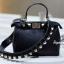 กระเป๋าสะพายแฟชั่น กระเป๋าสะพายข้างผู้หญิง Fendi candy stud [สีดำ] thumbnail 4