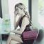 กระเป๋าสะพายแฟชั่น กระเป๋าสะพายข้างผู้หญิง CN คาเวียร์ 10 นิ้ว [สีแดง] thumbnail 2