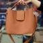 กระเป๋าสะพายแฟชั่น กระเป๋าสะพายข้างผู้หญิง กระเป๋าทรงตัวยู [สีส้ม] thumbnail 2