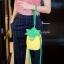 กระเป๋าสะพายแฟชั่น กระเป๋าสะพายข้างผู้หญิง pineapple bag [สีเหลือง] thumbnail 4