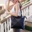 กระเป๋าสะพายแฟชั่น กระเป๋าสะพายข้างผู้หญิง pyramid [สีดำ] thumbnail 4