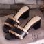 พร้อมส่ง รองเท้าส้นตันเปิดส้นสีดำ style แบรนด์ valentino แฟชั่นเกาหลี [สีดำ ] thumbnail 5