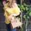 กระเป๋าสะพายแฟชั่น กระเป๋าสะพายข้างผู้หญิง Kelly Pu 25 cm [สีดำ] thumbnail 2
