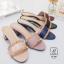 พร้อมส่ง รองเท้าส้นตันเปิดส้นสีดำ style แบรนด์ valentino แฟชั่นเกาหลี [สีดำ ] thumbnail 3