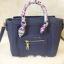 กระเป๋าสะพายแฟชั่น กระเป๋าสะพายข้างผู้หญิง ซีลีนคลาสสิค (CELINE CLASSIC) อะไหล่ทอง [สีกรม] thumbnail 3