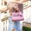 กระเป๋าสะพายแฟชั่น กระเป๋าสะพายข้างผู้หญิง Mini Kelly Pu [สีชมพู] thumbnail 2