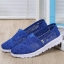 พร้อมส่ง รองเท้าผ้าใบลูกไม้สีน้ำเงิน พื้นสุขภาพ ผ้าลูกไม้โปร่งใส่สบาย แฟชั่นเกาหลี [สีน้ำเงิน ] thumbnail 1