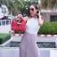 กระเป๋าสะพายแฟชั่น กระเป๋าสะพายข้างผู้หญิง Lindy 26 cm [สีแดง] thumbnail 3