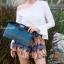 กระเป๋าครัช กระเป๋าถือ สายสะพาย วินเทจ(คลัทช์ปักลายวินเทจ) [สีดำ] thumbnail 2