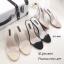 พร้อมส่ง รองเท้าส้นสูงเปิดส้นสีครีม พียูใสนิ่ม ส้นแก้ว แฟชั่นเกาหลี [สีครีม ] thumbnail 3