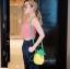 กระเป๋าสะพายแฟชั่น กระเป๋าสะพายข้างผู้หญิง pineapple bag [สีเหลือง] thumbnail 5