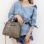 กระเป๋าสะพายแฟชั่น กระเป๋าสะพายข้างผู้หญิง กระเป๋าสะพายโซ่ [สีเทา] thumbnail 1