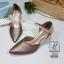 พร้อมส่ง รองเท้าส้นสูงหัวแหลมสีน้ำตาล รัดส้น working women แฟชั่นเกาหลี [สีน้ำตาล ] thumbnail 3