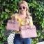 กระเป๋าสะพายแฟชั่น กระเป๋าสะพายข้างผู้หญิง Birkin PU 30 cm [สีชมพู] thumbnail 3