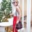 กระเป๋าสะพายแฟชั่น กระเป๋าสะพายข้างผู้หญิง GG ทรงขนมจีบ [สีแดง] thumbnail 2