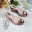 พร้อมส่ง รองเท้าส้นเตารีดลายดอกไม้สีดำ สไตล์วินเทจ สายคาดพลาสติกใส แฟชั่นเกาหลี [สีดำ ] thumbnail 1
