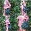 กระเป๋าสะพายแฟชั่น กระเป๋าสะพายข้างผู้หญิง อัดพีทห่วง [สีเขียว] thumbnail 4