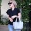 กระเป๋าสะพายแฟชั่น กระเป๋าสะพายข้างผู้หญิง Picotin size L [สีเทา]