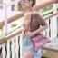 กระเป๋าสะพายแฟชั่น กระเป๋าสะพายข้างผู้หญิง Mini Kelly Pu [สีชมพู] thumbnail 1