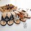 พร้อมส่ง รองเท้าส้นตันสีเทา แบบคีบ เก็บเท้า match ง่ายกับทุกชุด แฟชั่นเกาหลี [สีเทา ] thumbnail 4
