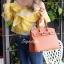 กระเป๋าสะพายแฟชั่น กระเป๋าสะพายข้างผู้หญิง Birkin PU 30 cm [สีส้ม] thumbnail 2