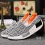 พร้อมส่ง รองเท้าผ้าใบเสริมส้นสีเทา ผ้าทอ พื้นสุขภาพ แฟชั่นเกาหลี [สีเทา ] thumbnail 2
