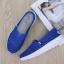 พร้อมส่ง รองเท้าผ้าใบลูกไม้สีน้ำเงิน พื้นสุขภาพ ผ้าลูกไม้โปร่งใส่สบาย แฟชั่นเกาหลี [สีน้ำเงิน ] thumbnail 2