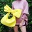 กระเป๋าครัช กระเป๋าถือ Big Bow [สีเหลือง] thumbnail 3