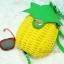 กระเป๋าสะพายแฟชั่น กระเป๋าสะพายข้างผู้หญิง pineapple bag [สีเหลือง] thumbnail 2