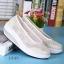 พร้อมส่ง รองเท้าผ้าใบเสริมส้นสีครีม ผ้าลูกไม้ พื้นสุขภาพ แฟชั่นเกาหลี [สีครีม ] thumbnail 4