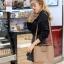 กระเป๋าสะพายแฟชั่น กระเป๋าสะพายข้างผู้หญิง กระเป๋าทรงตัวยู [สีกาแฟ] thumbnail 2