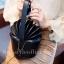 กระเป๋าครัช กระเป๋าถือ Cup cake PU [สีดำ] thumbnail 1