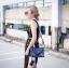 กระเป๋าสะพายแฟชั่น กระเป๋าสะพายข้างผู้หญิง City mini bag [สีกรม] thumbnail 3